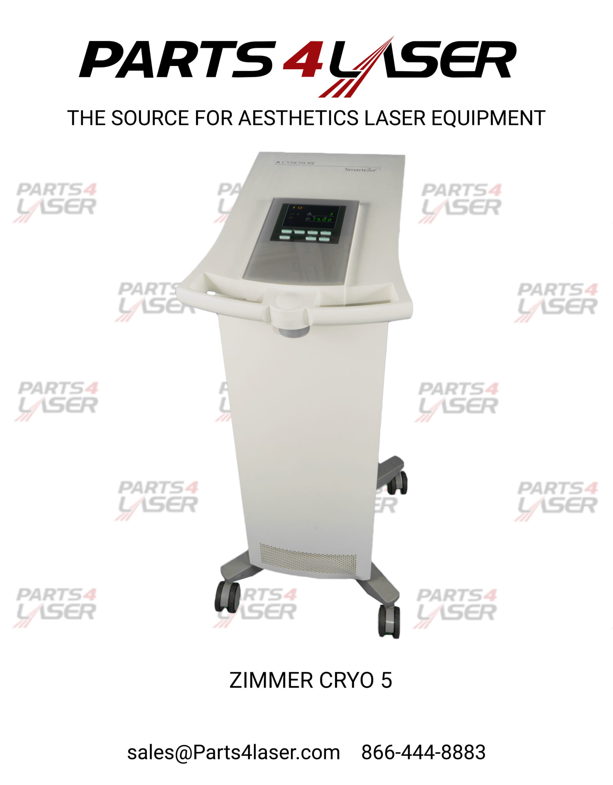 Cynosure Zimmer Cryo 5 Cryo 6 Handpiece Nozzle Air Cooled 100 7009 085 Chiller Hand Piece Holder Parts4laser